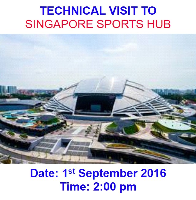 Technical visit to spore sports hub